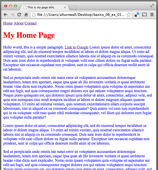 Figure 1: paragraphs of text separate by whitespace, continuing off the page.