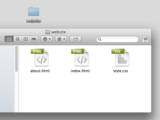 Figure 2: Screenshot of the files in our website folder