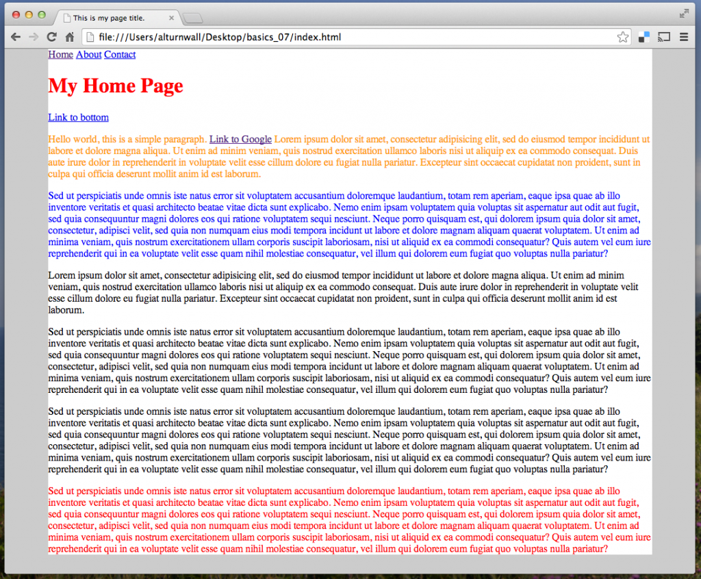Figure 1: Screenshot with content centered in pagebox
