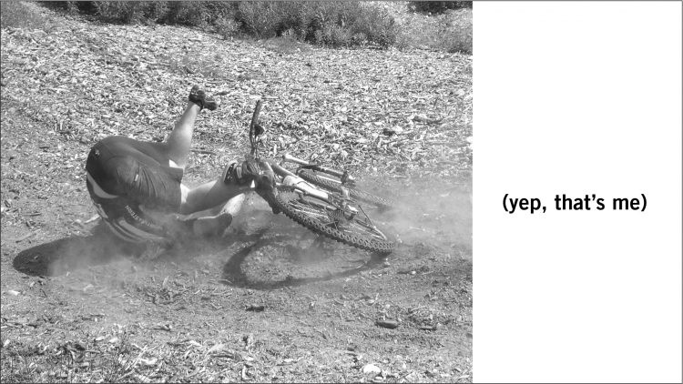 Yep, that's me: picture of me during a mountain bike crash.