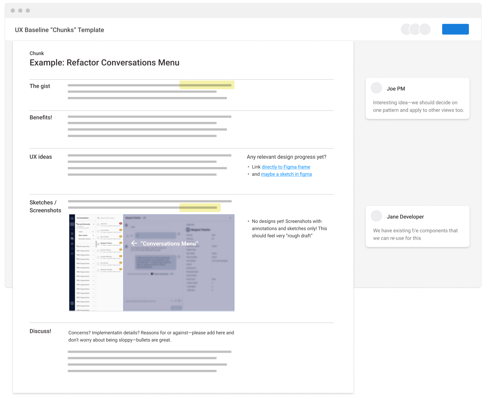 """a """"Chunks"""" template used for planning"""