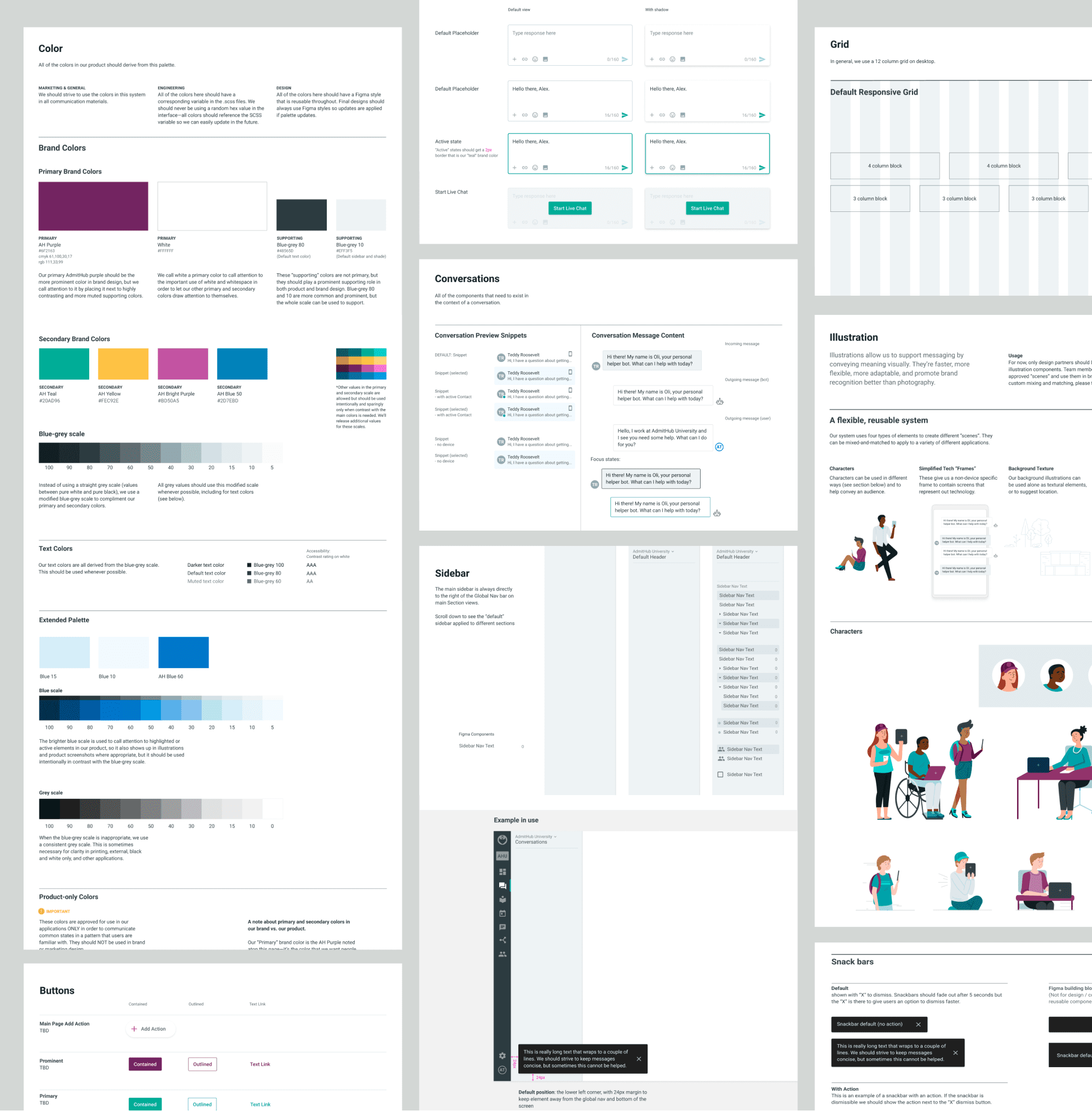 detail snapshot of design system pages